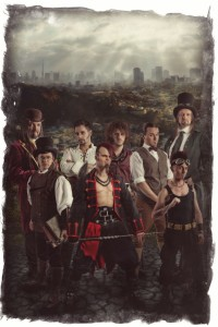 Die Band im Steampunk-Outfit