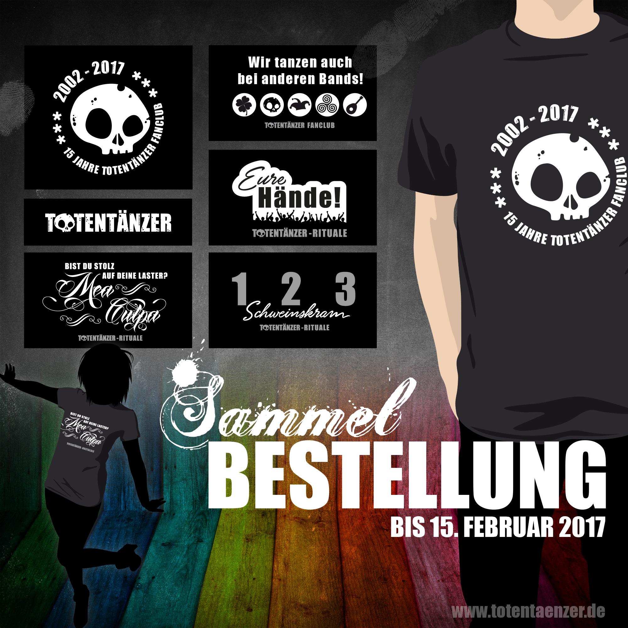 Totentänzer Sammelbestellung T-Shirts