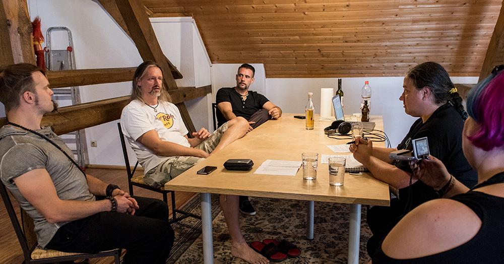 Totentänzer Jahresrückblick 2017 Studiobesuch Lasterbalk, Alea, Jean, Luzi und Till