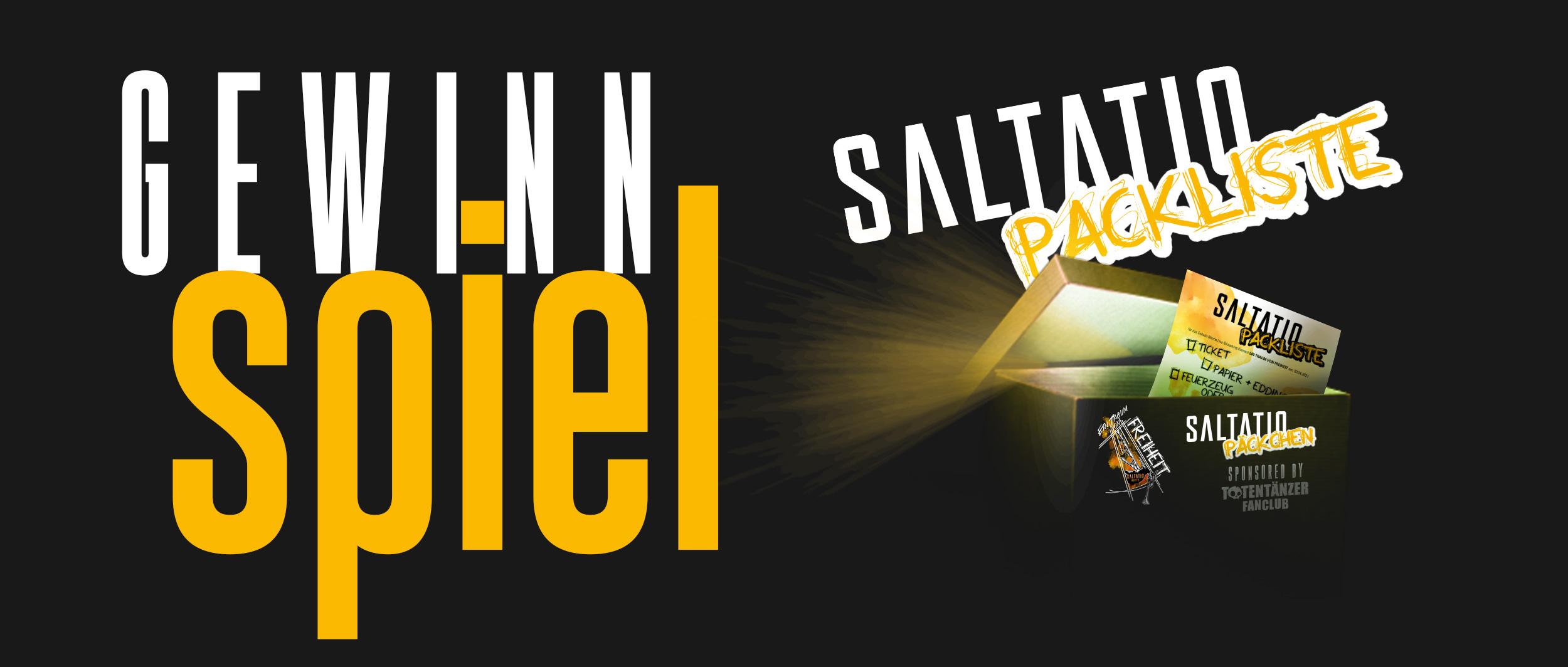 Totentänzer Gewinnspiel - Saltatio-Packliste